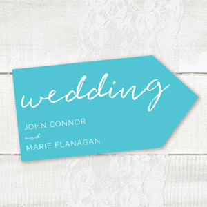 We Do 2 - Wedding Pointer Sign