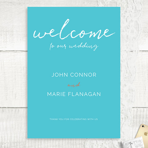 We Do 2 - Wedding Welcome Sign