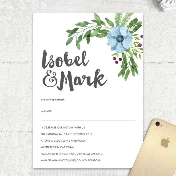 Winter Wedding - Main Invite