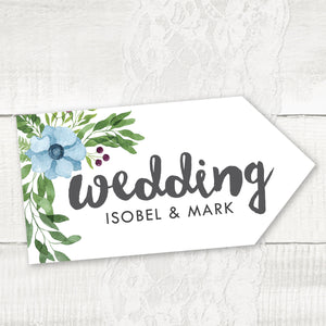 Winter Wedding - Wedding Pointer Sign