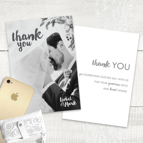 Winter Wedding - Thank You Card