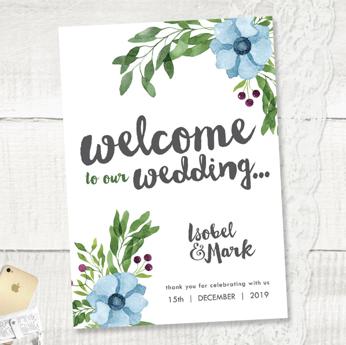 Winter Wedding - Wedding Welcome Sign