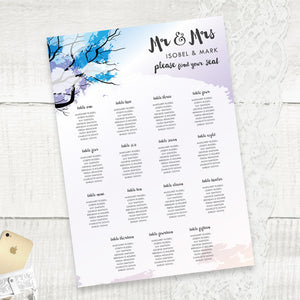Winter Wonder - Seating Plan