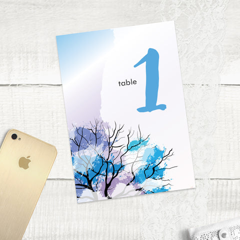 Winter Wonder - Table Numbers