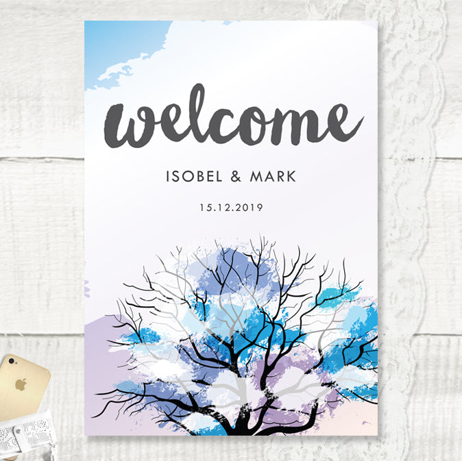 Winter Wonder - Wedding Welcome Sign