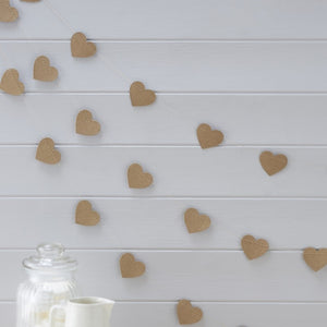 Heart Shaped Kraft Bunting - for any event