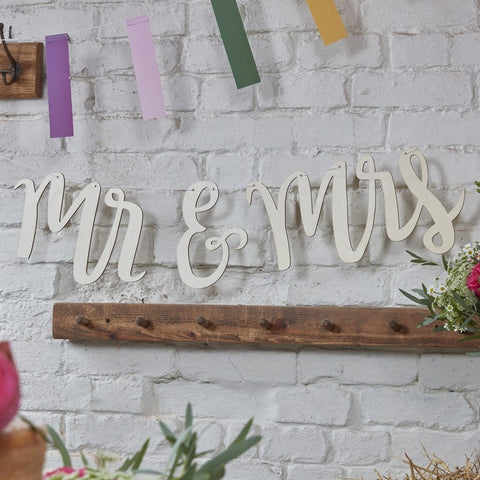 Mr & Mrs Wooden Bunting wedding decorations Ireland