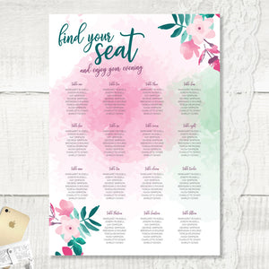 Cherry Blossom - Seating Plan