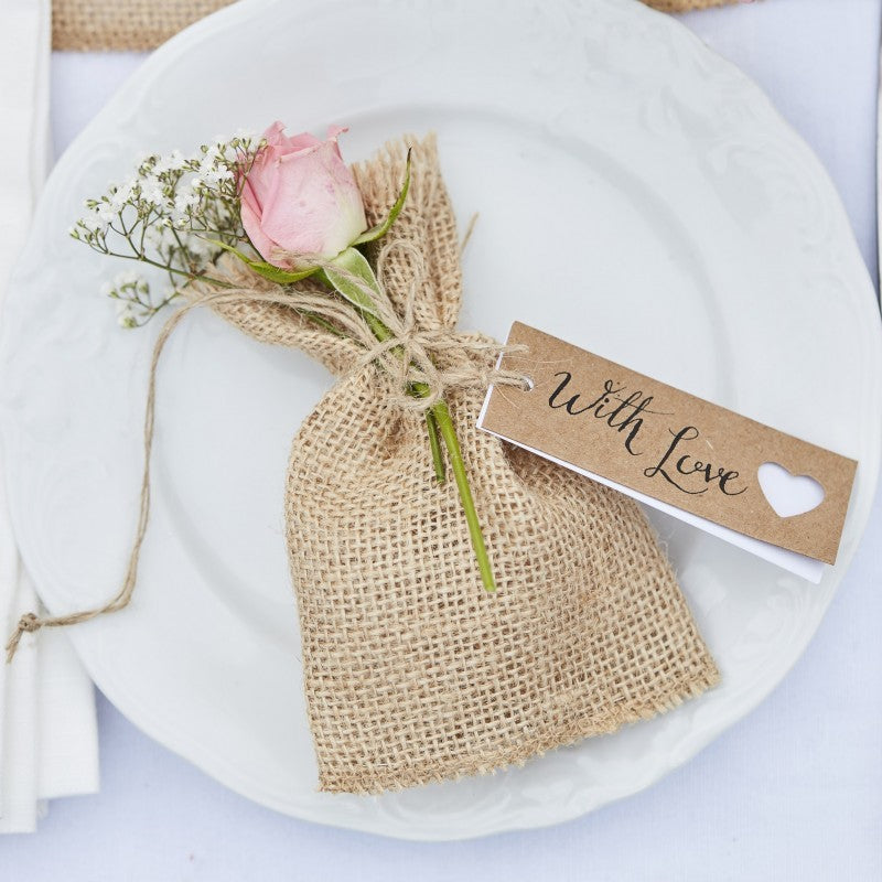 Rustic Wedding Favours, personalise these Luggage Tags yourself
