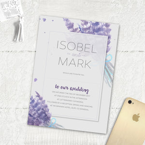 Lovely Lavender - Main Invite
