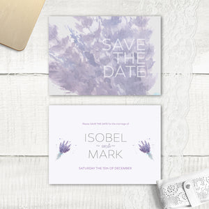 Lovely Lavender - Save the Date