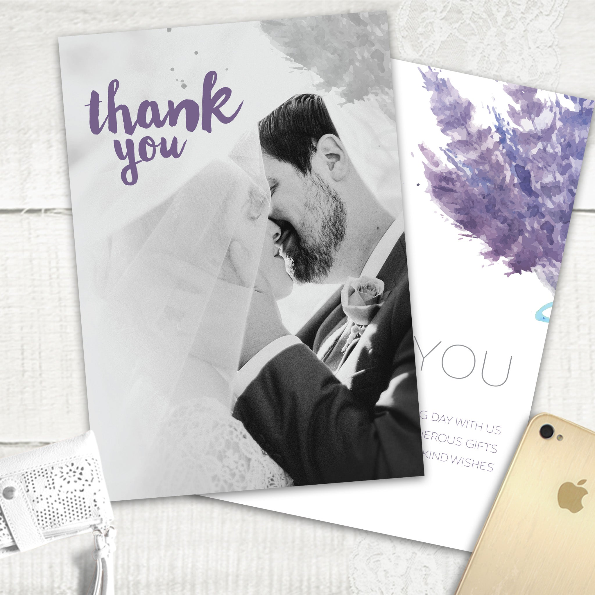 Lovely Lavender - Thank You Card