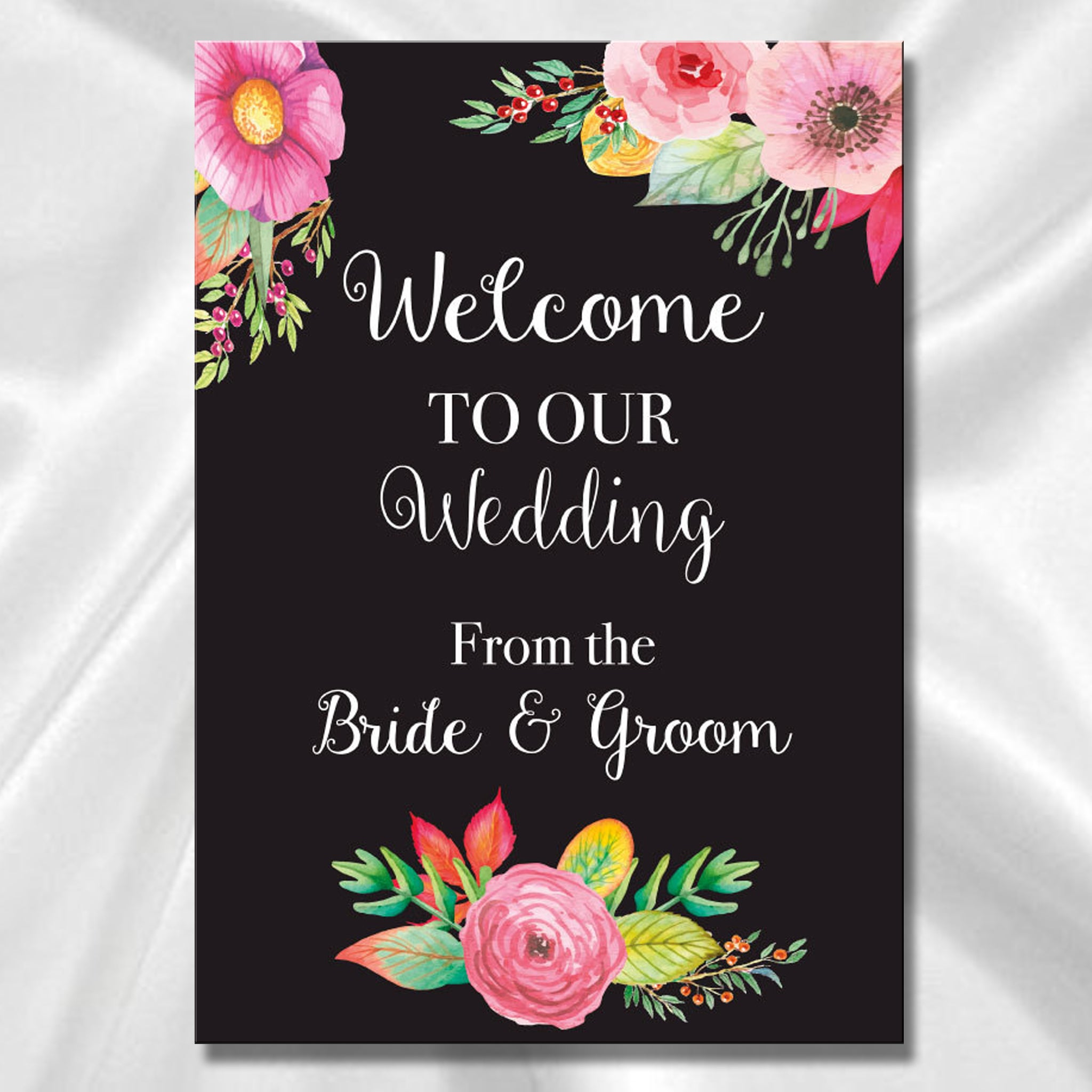 Wedding Welcome Sign - Black