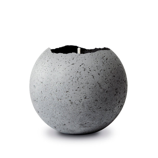 Konzuk Natural Orbis Concrete Candle - Bright Citrus