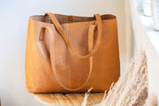 Meyelo Leather Bags: Nubuck Wide Tote