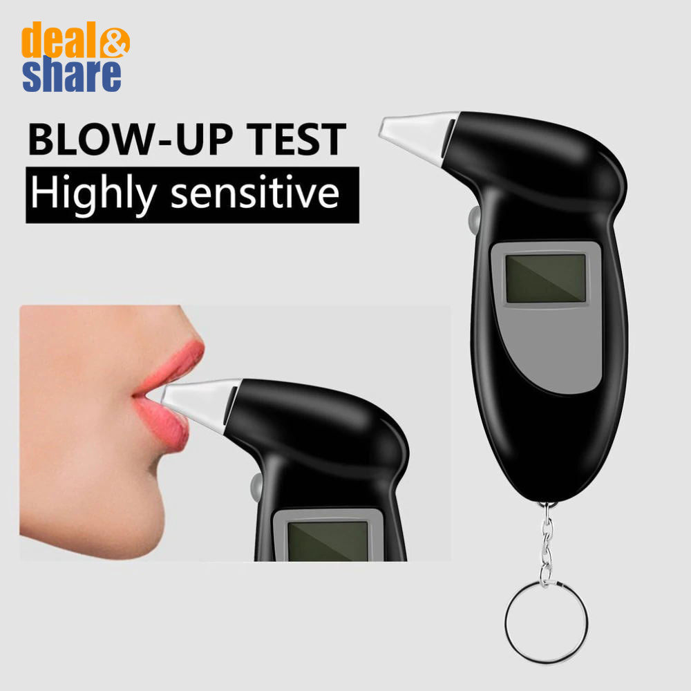 High-Precision Breathalyzer with LCD Display Portable Breath Alcohol Tester