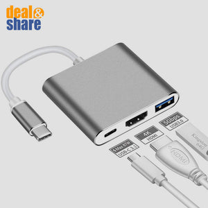 3-in-1 Type-C to HDMI Adapter - Deal&Share South Africa Online Shopping Store
