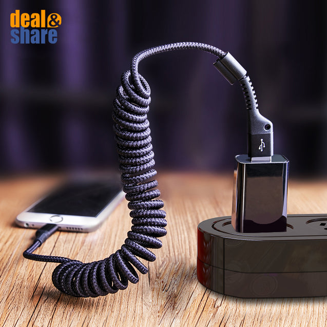 Baseus Nylon Braided Retractable Charging Cable - Deal&Share South Africa Online Shopping Store
