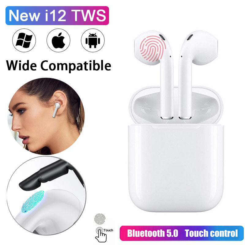 i12 TWS Wireless Bluetooth Earphone