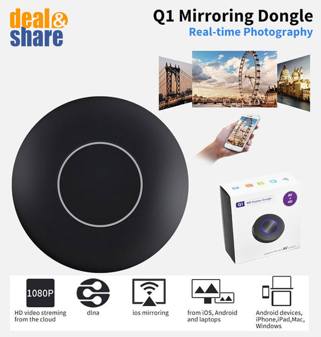 Q1 Chromecast WIFI Display HDMI TV Dongle - Deal&Share South Africa Online Shopping Store