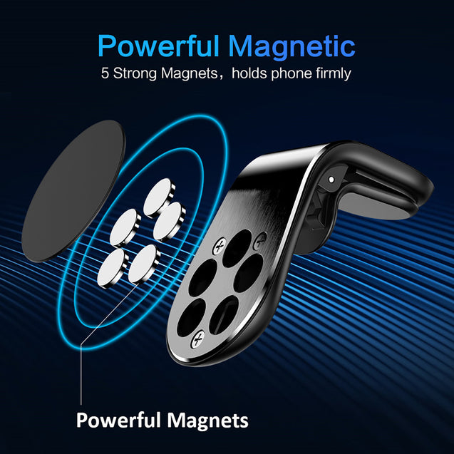 Magnetic Car Phone Holder L Shape Air Vent Mount - Deal&Share South Africa Online Shopping Store