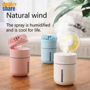T9 Air Humidifier With USB Rechargeable Fan - Deal&Share South Africa Online Shopping Store