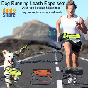 Hands Free Reflective Bungee Dog Leash With Waist Bag - Deal&Share South Africa Online Shopping Store