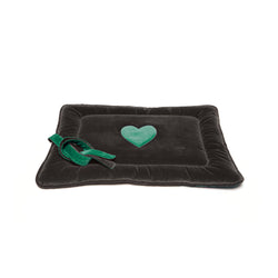 Monogramm Medium Dog Travel Bed Grey-Green