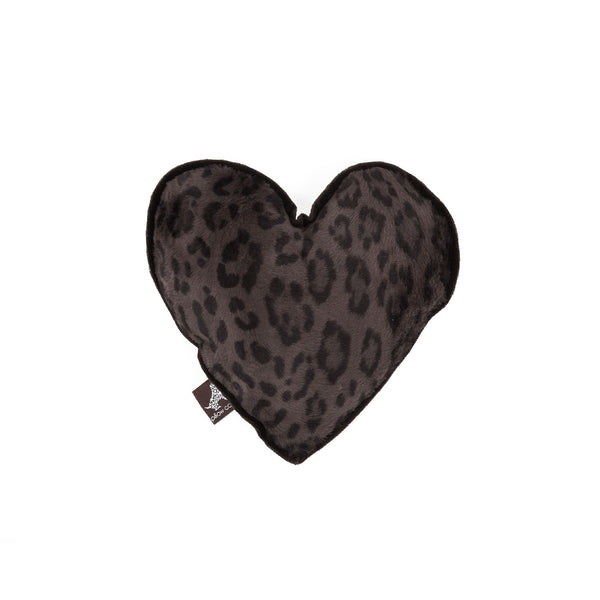Chocolate Heart Dog Toy Dark Brown