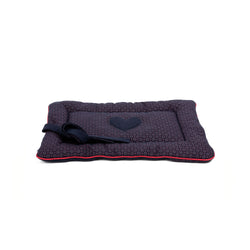 Florentine Medium Dog Travel Bed Navy-Red