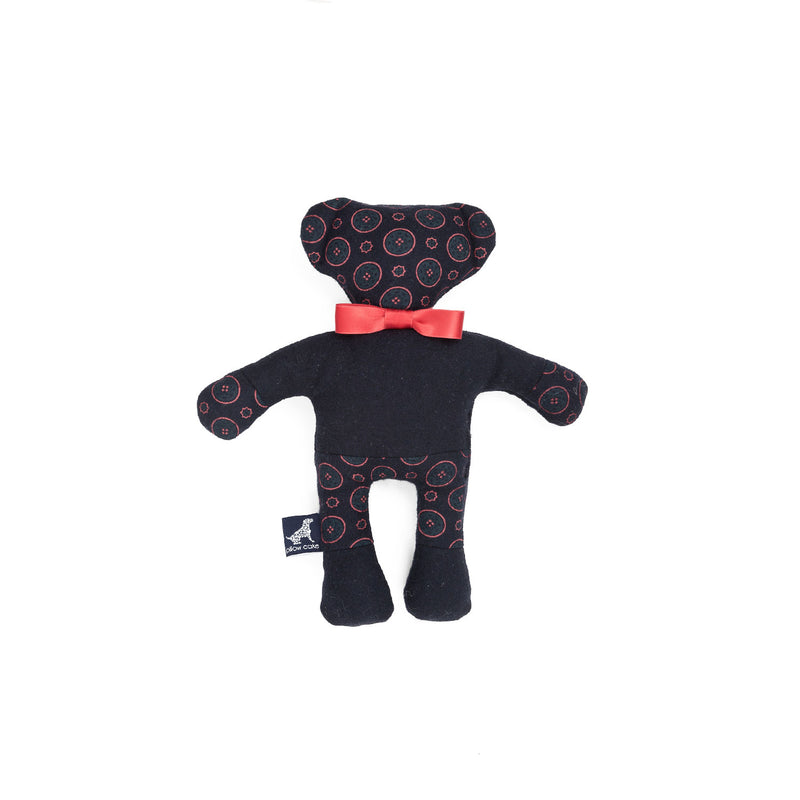 Florentine Teddy Dog Toy Navy-Red