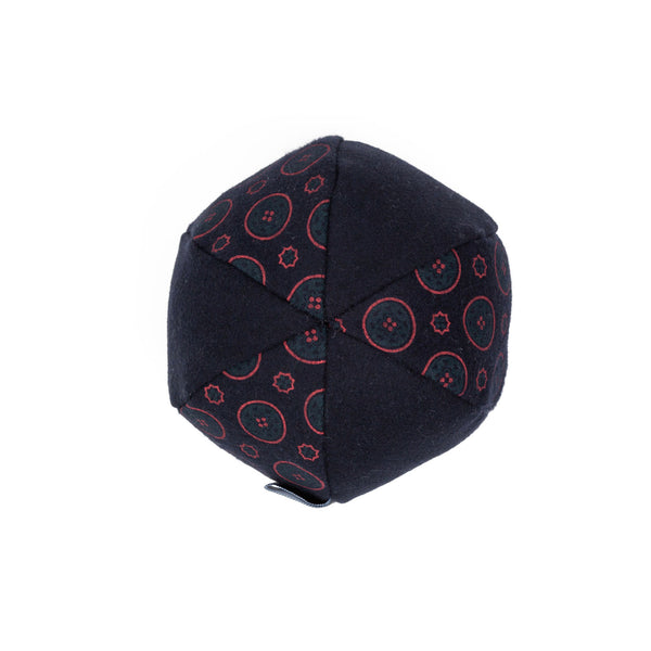 Florentine Ball Dog Toy Navy-Red
