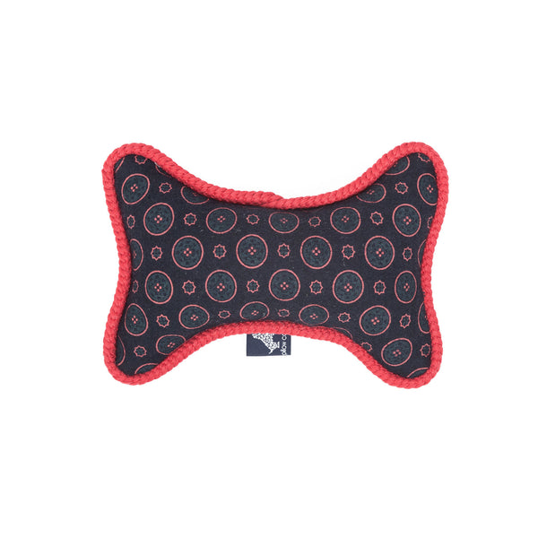 Florentine Bone Dog Toy Navy-Red