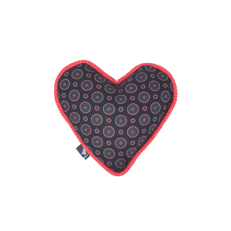Florentine Heart Dog Toy Navy-Red