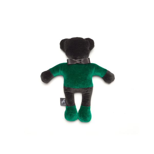 Monogramm Teddy Dog Toy Grey-Green