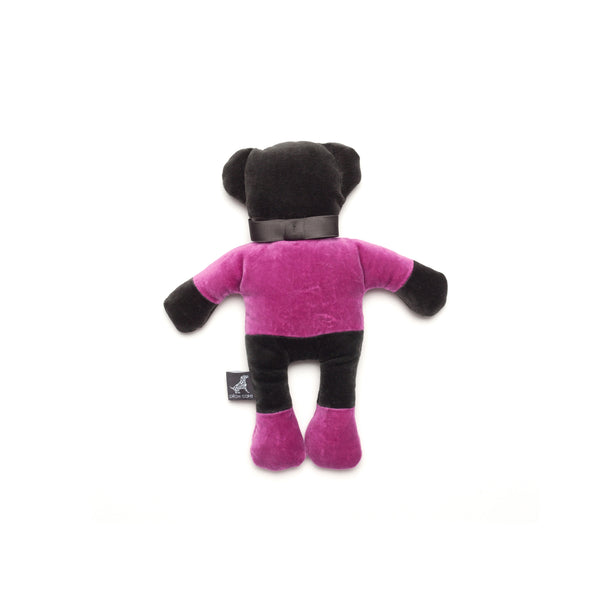 Monogramm Teddy Dog Toy Grey-Pink