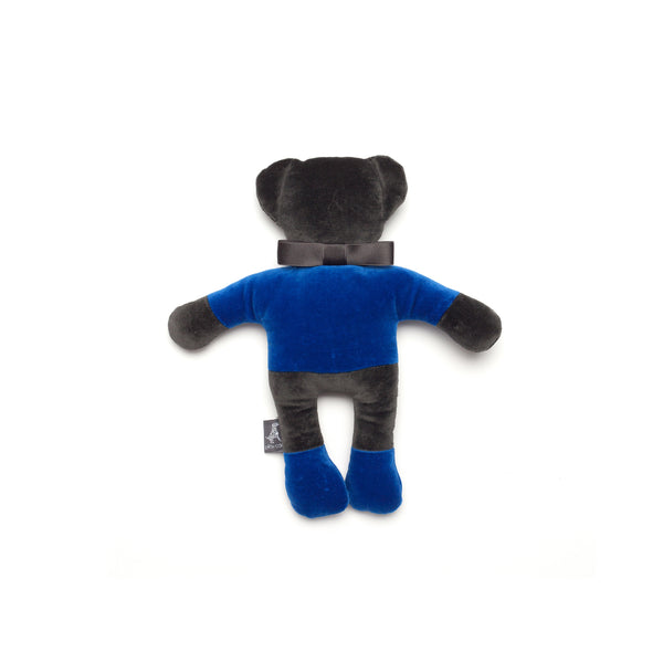 Monogramm Teddy Dog Toy Grey-Blue