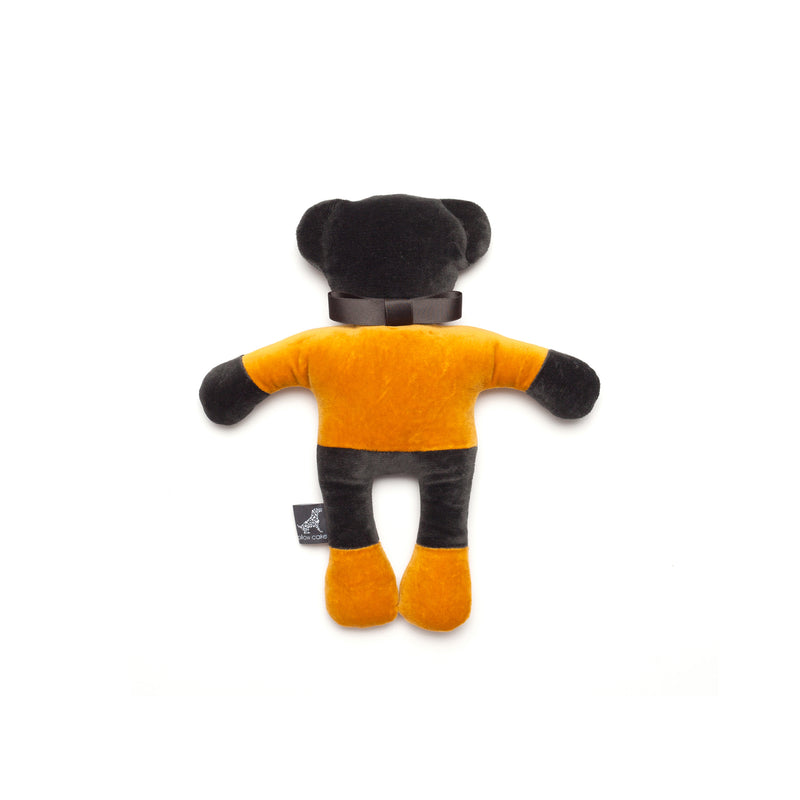 Monogramm Teddy Dog Toy Grey-Yellow
