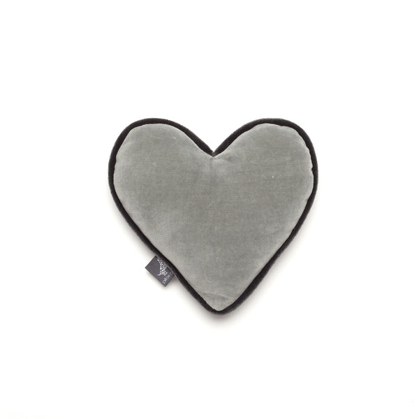 Monogramm Heart Dog Toy Grey-Silver Grey
