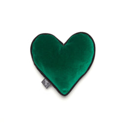 Monogramm Heart Dog Toy Grey-Green