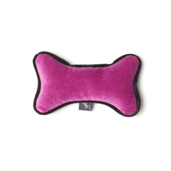 Monogramm Bone Dog Toy Grey-Pink
