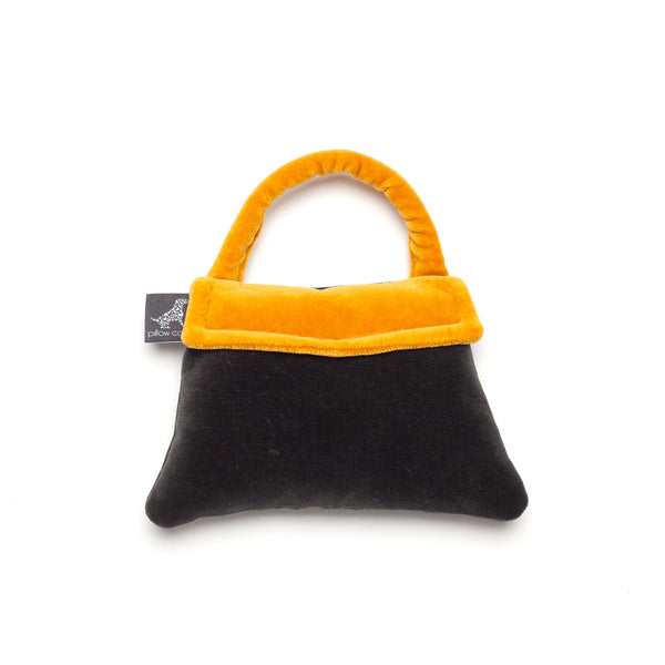 Monogramm Handbag Dog Toy Grey-Yellow