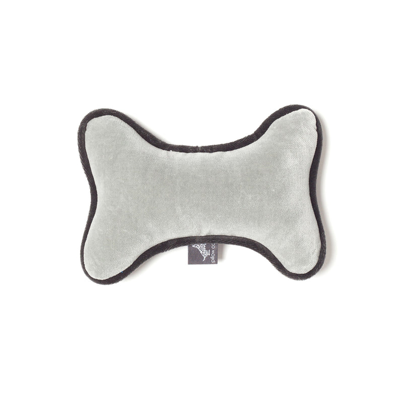 Monogramm Bone Dog Toy Grey-Silver Grey