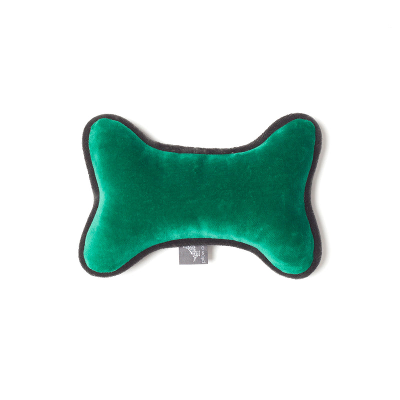Monogramm Bone Dog Toy Grey-Green