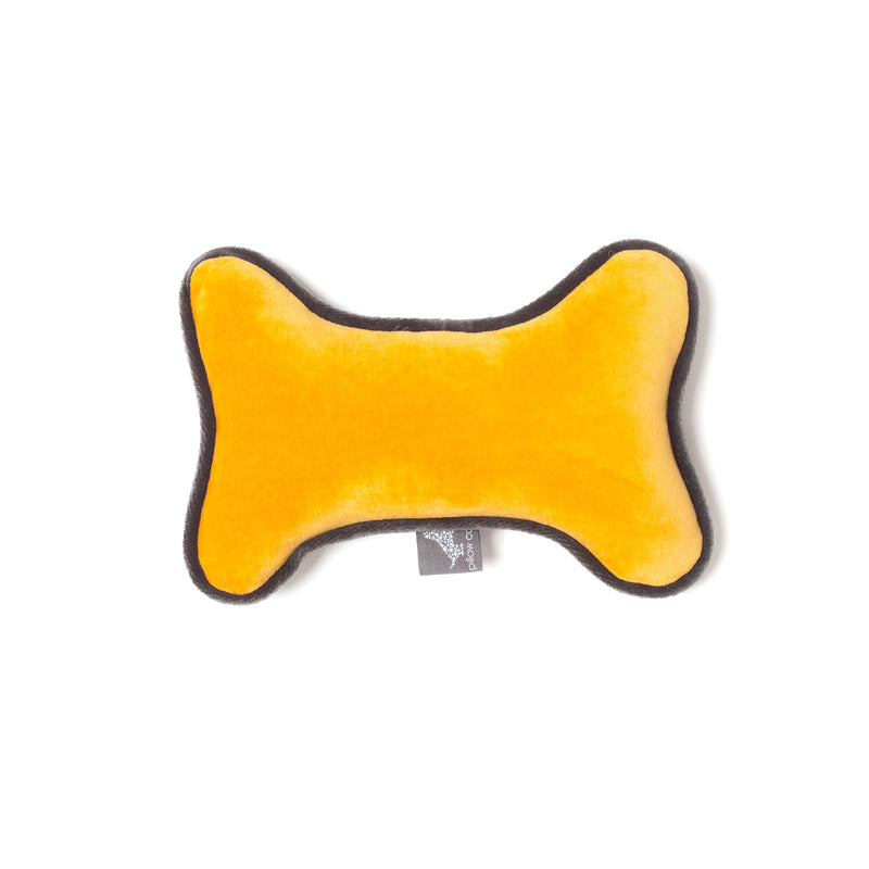 Monogramm Bone Dog Toy Grey-Yellow