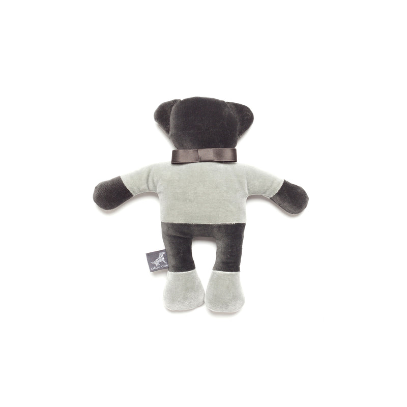 Monogramm Teddy Dog Toy Grey-Silver Grey