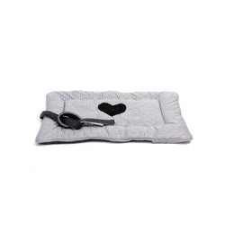 Moon Medium Dog Travel Bed Black-White