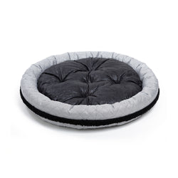 Moon Medium Round Dog Bed Black-White