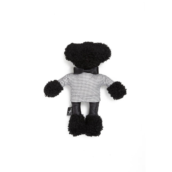 Moon Teddy Dog Toy Black-White
