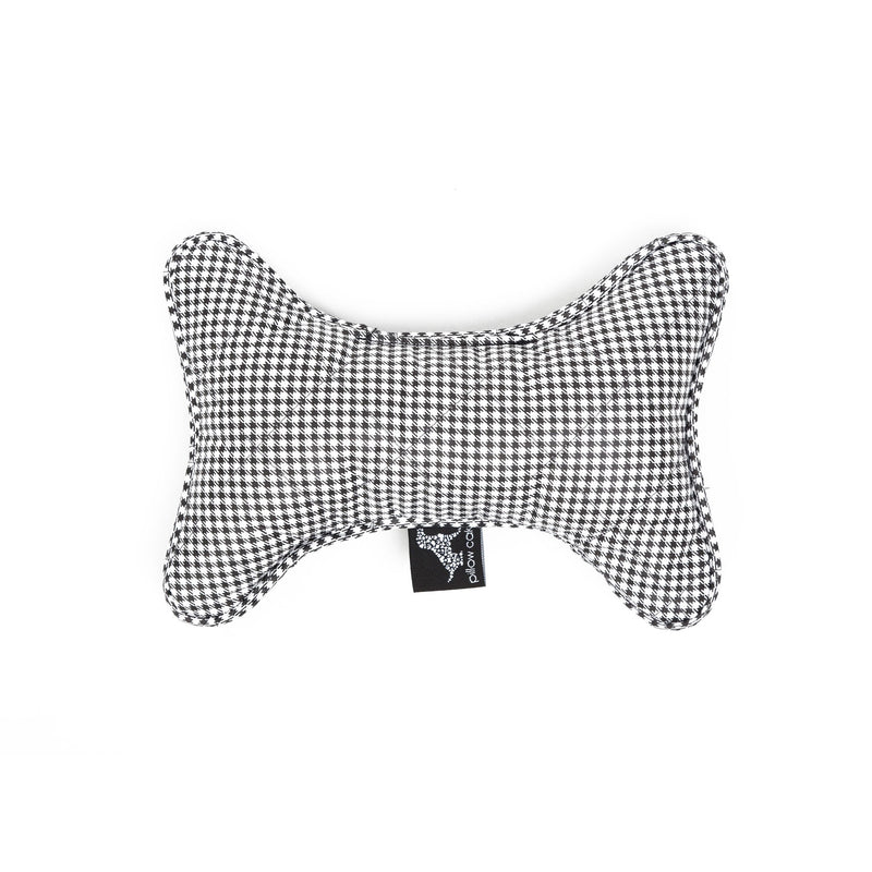 Moon Bone Dog Toy Black-White